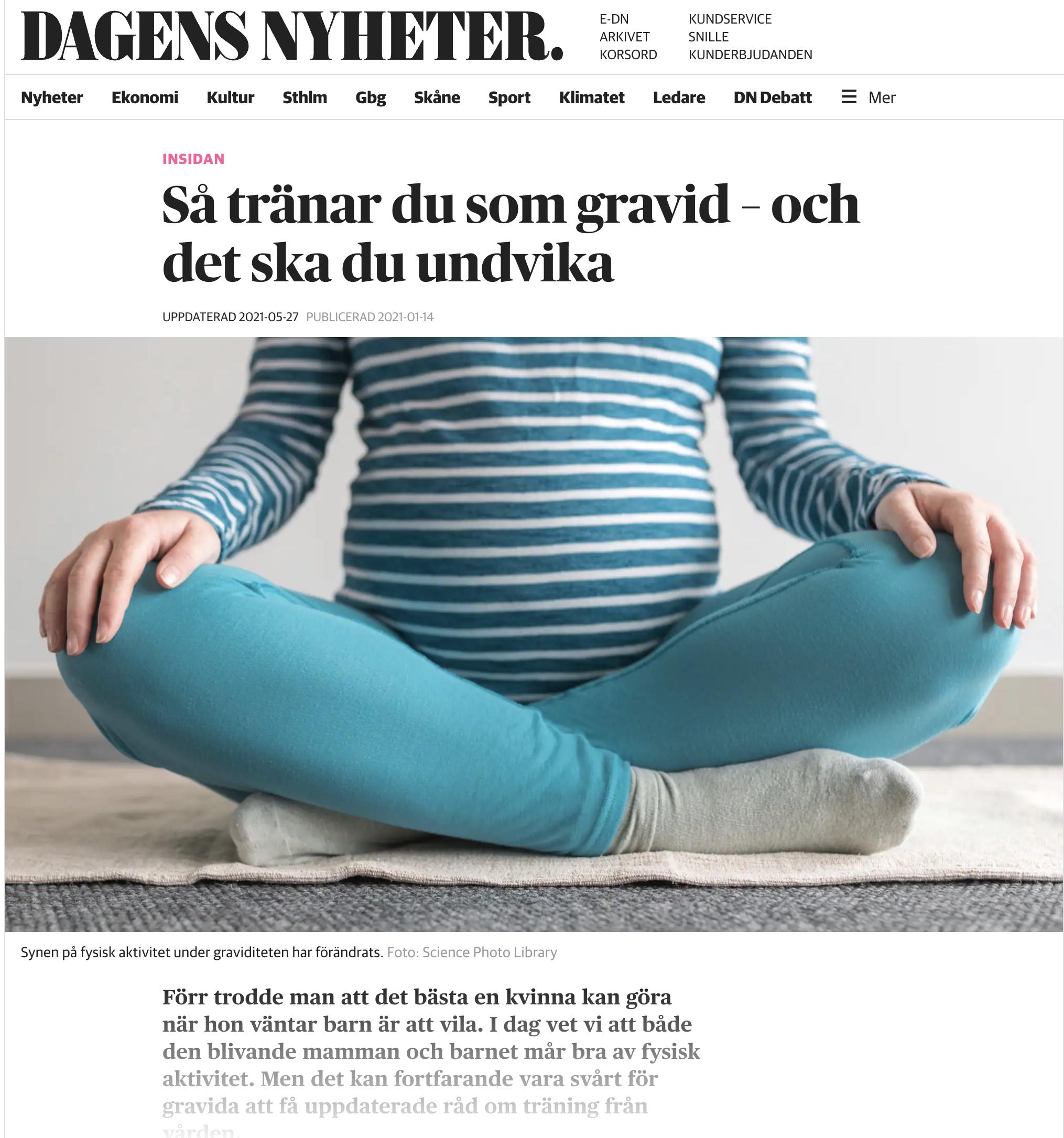 Så tränar du som gravid DN